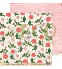 Бумага для скрапбукинга двусторонняя 30.5х30.5 см, 250 гр/м, коллекция Мемуары, лист Мой гербарий