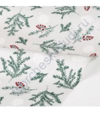 Ткань для рукоделия Tree, коллекция Winter tree, 100% хлопок, плотность 165 гр/м2, размер 45х55 см