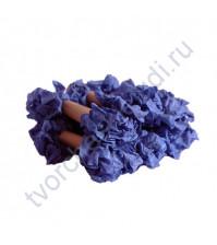 Шебби-лента мятая, Королевский синий, ширина 14мм, 1м