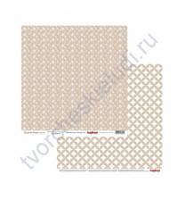Бумага для скрапбукинга двусторонняя Элегантно Просто, 30.5х30.5 см, 190 гр/м, лист Классика Кофе со льдом