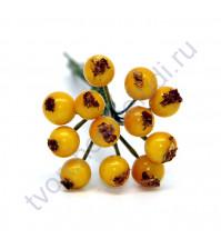 Букетик декоративный Ягоды, 12 штук, цвет желтый