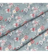 Ткань для рукоделия Красно-жёлтое соцветие, 100% хлопок, плотность 150 гр/м2, размер отреза 50х40 см