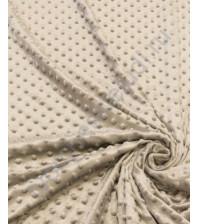 Ткань плюш Минки горошины, размер 50х50 см, 100% полиэстер, цвет светло-серый