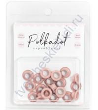 Набор люверсов для скрапбукинга, 20 шт, цвет розовый