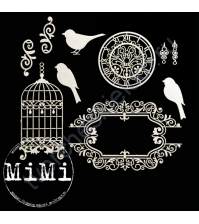 Набор чипборда Птицы, коллекция Ретро, размер 10х15 см