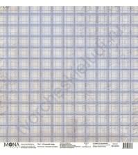 Бумага для скрапбукинга односторонняя Осенняя история, 30.5х30.5 см, 190 гр/м, лист Осенний плед