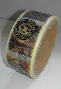 Бумажный скотч с принтом Париж, 15ммх8м