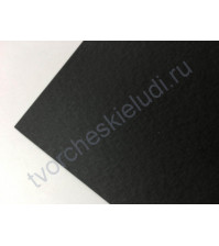 Кардсток текстурированный 30х30 см, цвет чёрный, плотность 250 гр/м2