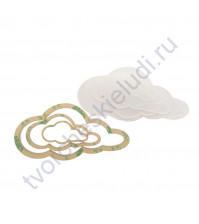 Набор шейкеров Облако вытянутое, 3 элемента, толщ. 2 мм, цвет молочный