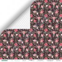 Бумага для скрапбукинга двусторонняя 30.5х30.5 см, 190 гр/м, коллекция Oh, Ballet, лист Звёздочка