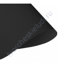 Кожзам переплетный на полиуретановой основе плотность 230 гр/м2, 50х35 см, цвет black-черный