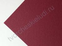 Кардсток текстурированный 30х30 см, цвет марсала, плотность 250 гр/м2