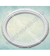 Форма силиконовая (молд) Овальная рамка, 35х30 мм