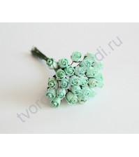 Бутоны роз полураскрытые 10 мм, 5 шт, цвет Мятный