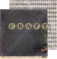 Бумага для скрапбукинга двусторонняя коллекция Алхимия, 30.5х30.5 см, 190 гр/м, лист Чёрная кошка
