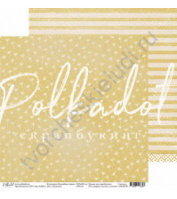 Бумага для скрапбукинга двусторонняя 30.5х30.5 см, 190 гр/м, коллекция Волшебная страна, лист Пушинки