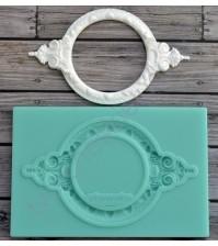 Форма силиконовая (молд) для полимерной глины, Круглая рамка-2