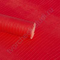 Кожзам переплетный с тиснением Ящерица, плотность 255 гр/м2, 70х50 см, цвет красный