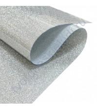 Термотрансферная пленка глиттер, цвет серебро, 25х25 см (+/- 2 см)