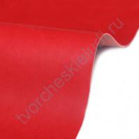 Кожзам переплетный на полиуретановой основе плотность 230 гр/м2, 50х35 см, цвет 4872-красный