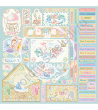 Бумага для скрапбукинга двусторонняя коллекция Малыши, 30.5х30.5 см, 190 гр/м, 740211