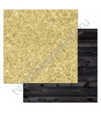 Бумага для скрапбукинга двусторонняя коллекция Фономикс.Сканди, 30.5х30.5 см, 180 гр/м, лист Фольга