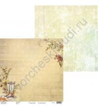 Бумага для скрапбукинга двусторонняя, 30.5х30.5 см, плотность 250 гр/м2, коллекция Lovely autumn, Лист 4