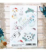 Набор декоративных наклеек Поздравляю, коллекция Этника новогодняя, размер 10х15 см