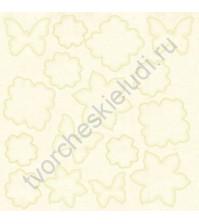 Холст с резист эффектом Floral Mix 2, 30.5х30.5 см