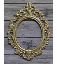 Металлическая рамка Ажур, цвет золото