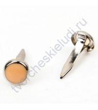 Набор брадсов эмалевых 7х14 мм, 10 шт, цвет персиковый