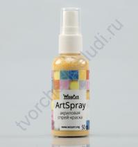 Спрей-краска AcrySpray матовая 50 мл, цвет Медовая патока FТ31