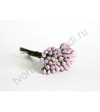 Бутоны роз маленькие 5 шт, цвет светло-сиреневый
