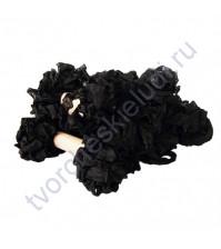Шебби-лента мятая, Черная, ширина 14мм, моток 1м