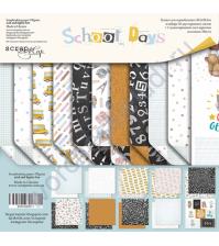 Набор двусторонней бумаги School Days, 30.5х30.5 см, 190 гр/м, 11 листов