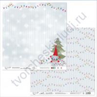 Бумага для скрапбукинга двусторонняя коллекция Новогодние хлопоты, 30.5х30.5 см, 190 гр/м, лист 6