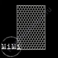 Чипборд Набор Соты мелкие, коллекция Фоны, 10х15 см