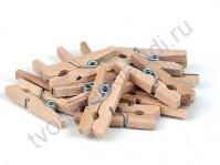 Прищепка деревянная 25 мм, 1 штука, цвет натуральный
