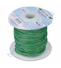 Вощеный шнур Зеленый от фирмы Gamma, 1м