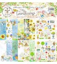 Набор двусторонней бумаги для скрапбукинга My Gardening , 30.48х30.48 см, 190 гр/м, в наборе 8 двусторонних листов + лист бонус (оборот обложки)