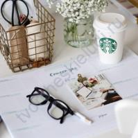 Настольный ежедневник-планер Мятное утро, формат А3, цвет мятный, 56 листов
