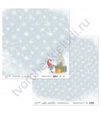 Бумага для скрапбукинга двусторонняя коллекция Новогодние хлопоты, 30.5х30.5 см, 190 гр/м, лист 2