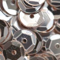Пайетки круглые с эффектом металлик 6 мм, 10 гр, цвет белое серебро
