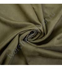 Искусственная замша Suede, плотность 230 г/м2, размер 50х35 см (+/- 2см), цвет оливковый