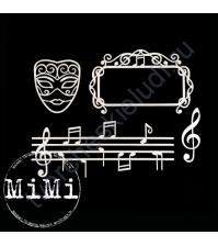 Набор чипборда Мелодия, коллекция Музыка, размер 7.5х10 см