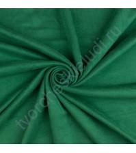 Искусственная замша двусторонняя, плотность 310 г/м2, размер 50х37 см (+/- 2см), цвет новогодний зеленый