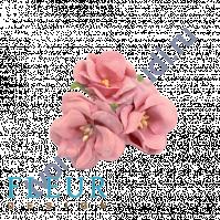 Цветочки Дикие розы шебби-розовые, размер цветка 4.5 см, 3 шт