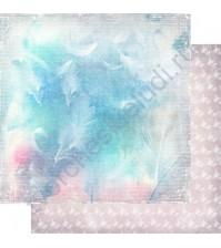 Бумага для скрапбукинга двусторонняя, коллекция Невесомость, лист 002