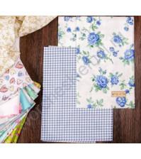 Набор ткани для рукоделия Лазурный берег, 2 лоскута, 100% хлопок, плотность 120г/м2