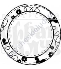 ФП печать (штамп) Журналинг круглый с цветами, 5.2х5.2 см